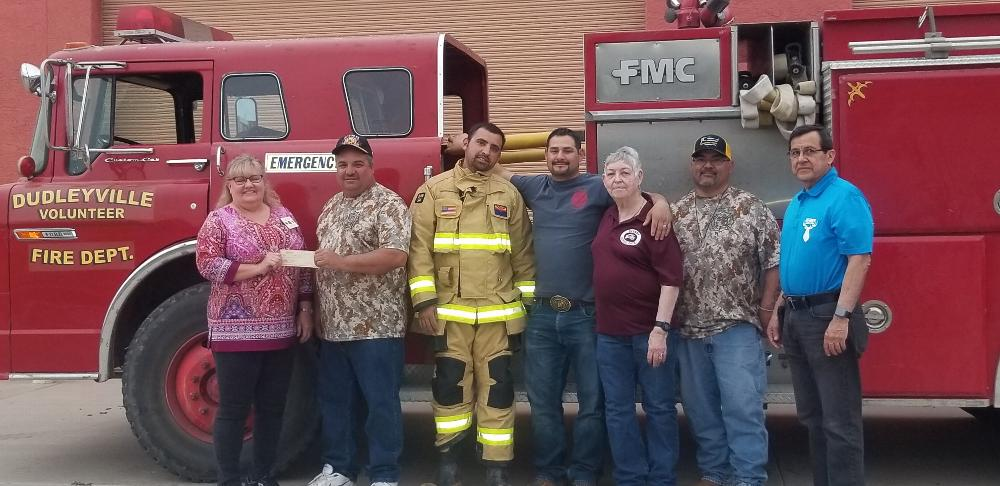 Kearny Elks are proud to donate $2,000 to Dudleyville Volunteer Fire to help with the purchase of communication equipment.
